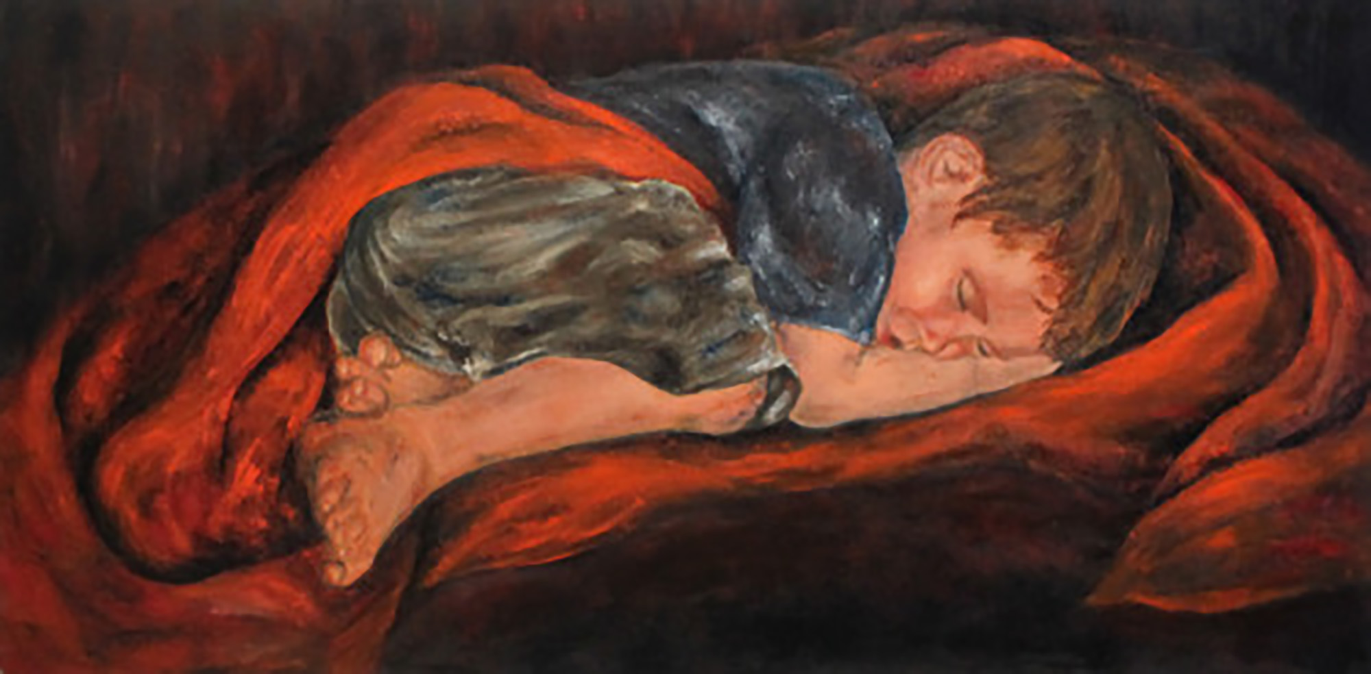 "Oil on Canvas 36"" x 18"""